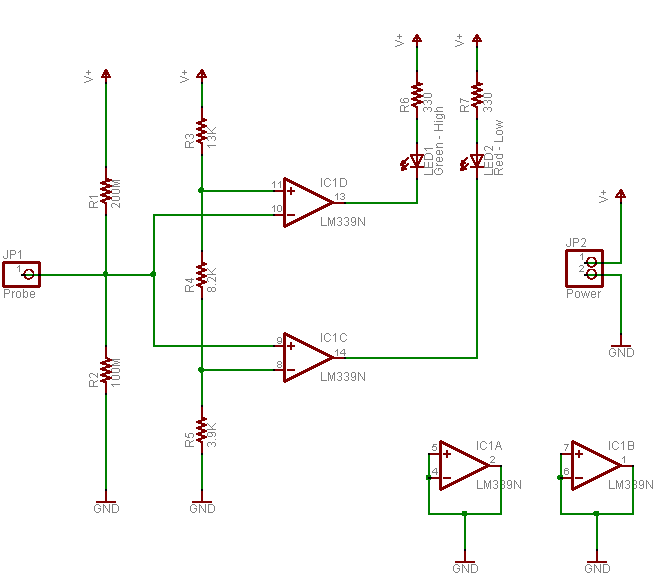 Logic Probe Schematic