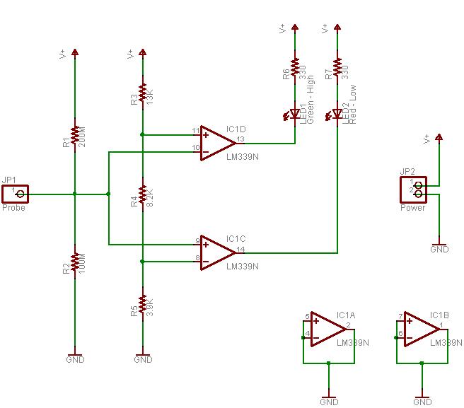 diy logic probe keith\u0027s electronics bloglogic probe schematic
