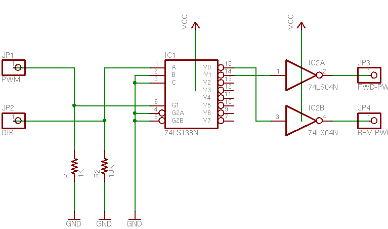 Motor Direction Control with 74LS138