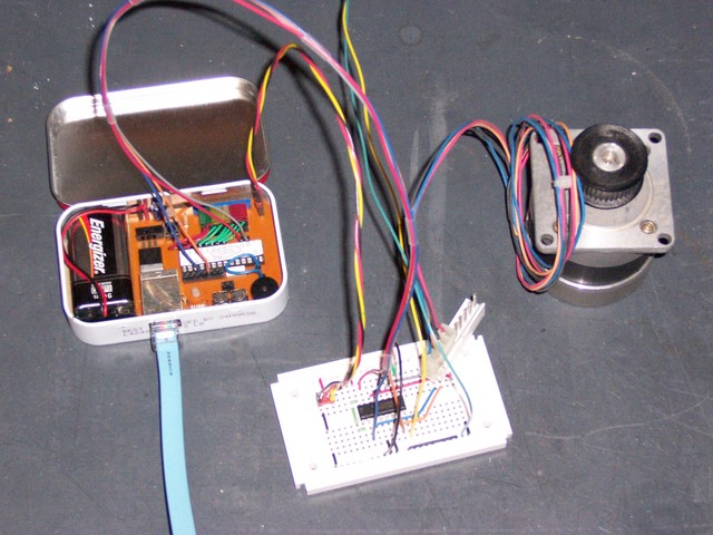 Stepper Motor with LogoChip Controller and 754410 Driver