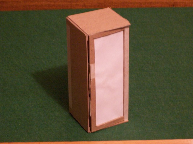 Cardboard Cabinet Model, Front View