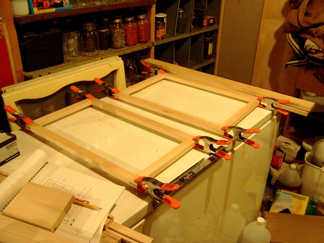 Gluing up Picture Frames